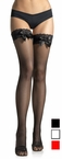 Adult Lacy Fishnet Thigh High w/ Bow - More Colors