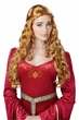 Adult Lady Guinevere Ginger Renaissance Wig