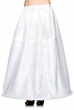 Adult Long White Hoop Skirt Petticoat