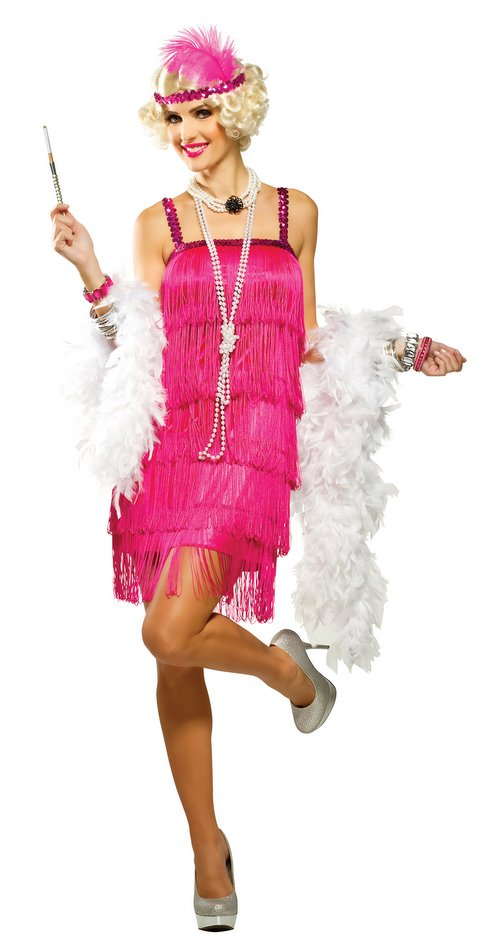Magenta Fifth Avenue Adult Flapper Costume