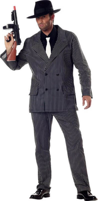 Halloween mobster costume men