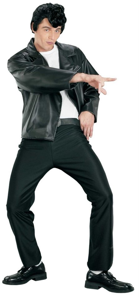 Adult Menu0026#39;s T-Birds Gang Greaser Costume - Candy Apple Costumes - 50u0026#39;s Costumes
