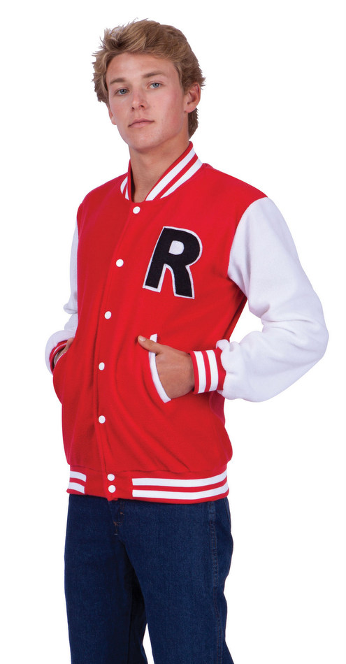 Adult Mens Red Letterman Jacket Costume 50s Costumes
