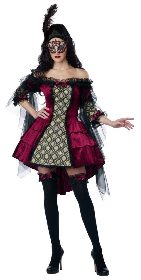 9b708e1551754 Plus Size Mysterious Masquerade Costume - Candy Apple Costumes ...