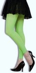 Adult Neon Green Footless Tights