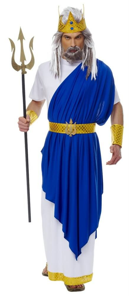 Adult Neptune God Of The Sea Costume Candy Apple Costumes