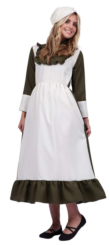 Adult Olive Colonial Peasant Woman Costume - Candy Apple ...