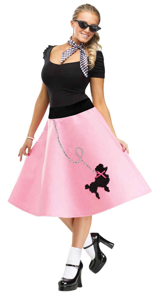a0d1c4bb69da Adult Pink 50's Poodle Skirt - Candy Apple Costumes - Women's 50's ...