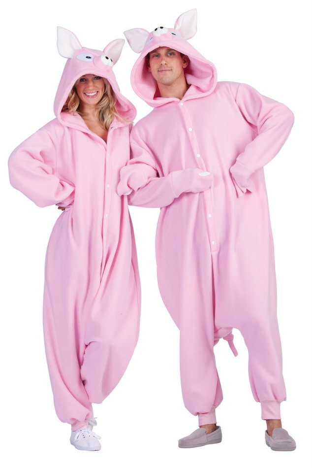 618dd5557479 Adult Pink Pig Funsies Costume - Candy Apple Costumes - Funny ...