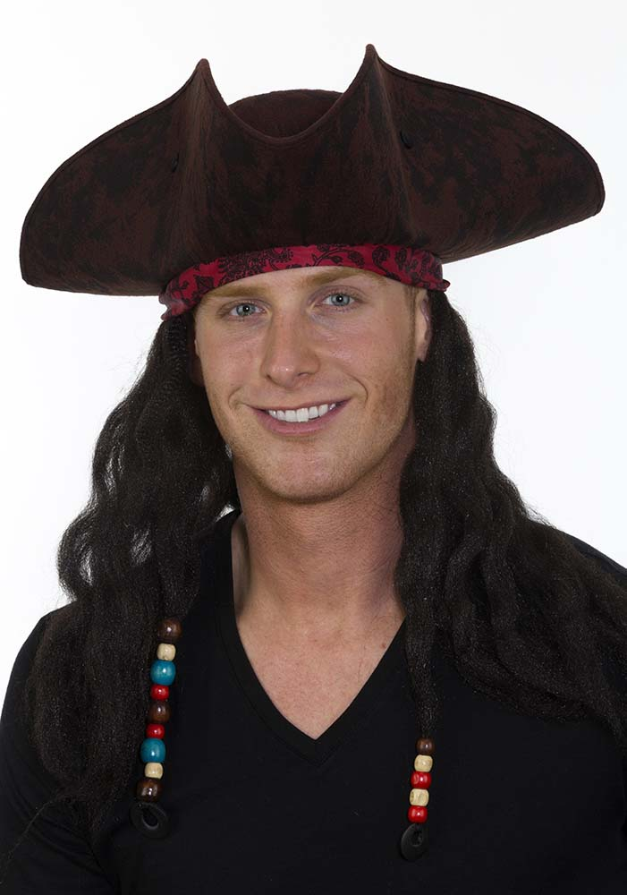 1a197d68a54 Adult Pirate Hat with Bandana   Dreadlocks - Candy Apple Costumes - Kids   Pirate Costumes