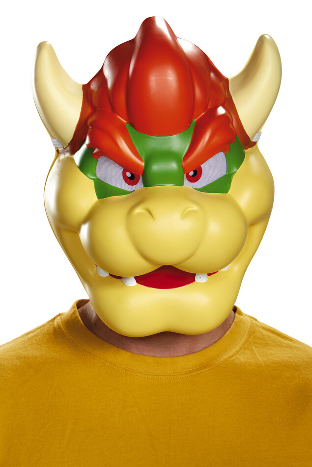 Adult Plastic Bowser Mask  sc 1 st  Candy Apple Costumes & Adult Plastic Bowser Mask - Candy Apple Costumes - Video Game Costumes