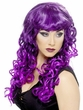 Adult Purple/Black Curly Siren Wig