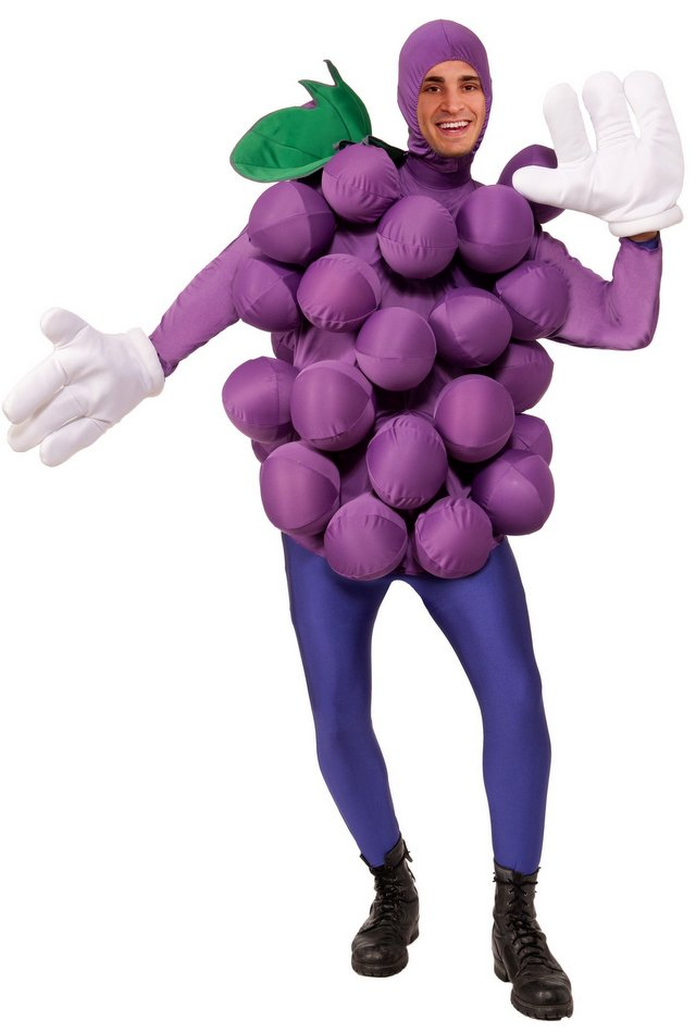Adult Purple Grapes Costume  sc 1 st  Candy Apple Costumes & Adult Purple Grapes Costume - Fruit and Vegetable Costumes - Deluxe ...