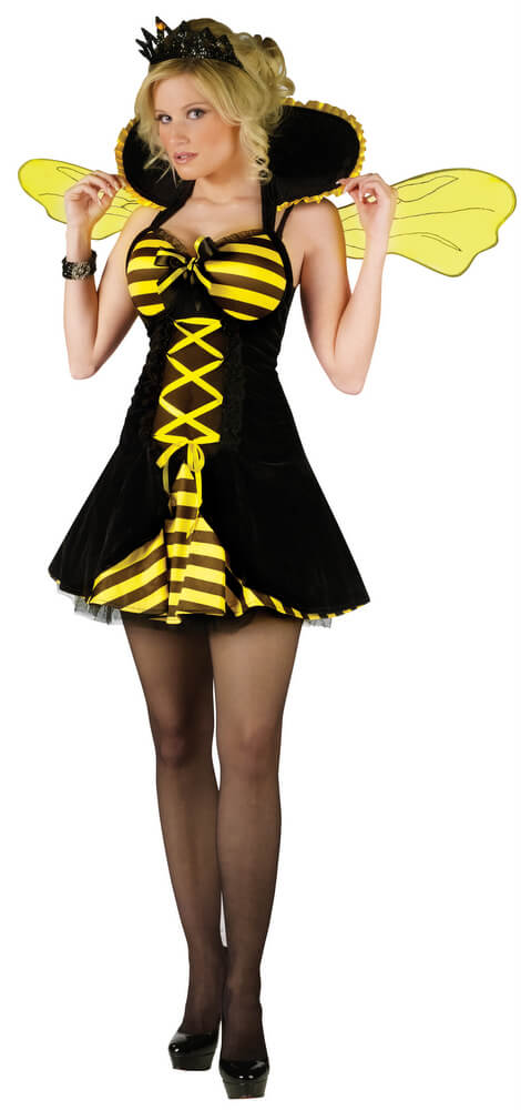 Adult Queen Bee Costume Size S/M  sc 1 st  Candy Apple Costumes & Adult Queen Bee Costume - Candy Apple Costumes - Bee u0026 Lady Bug Costumes