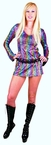 Adult Rainbow Swirl Disco Girl Costume