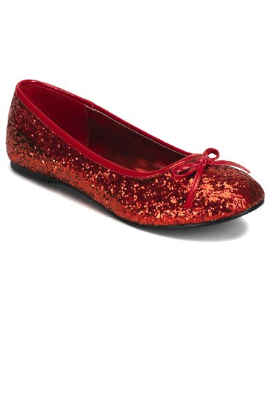 Adult Red Glitter Ballet Flats - Ruby Slippers - Candy Apple Costumes -  Doctor and Nurse Costumes 4729f1697a