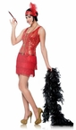 Adult Red/Gold Broadway Flapper Costume