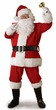 Adult Red Regal Plush Santa Claus Costume