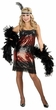 Adult Red Stretch Sequin Flapper Costume