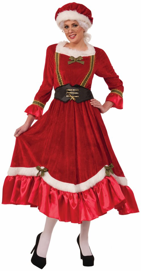 Adult Red Velvet Classic Mrs Claus Costume Candy Apple Costumes