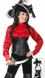 Women's Satin Pirate Blouse Costume - Red or White