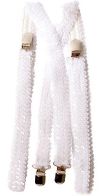 Adult Sequin Suspenders Candy Apple Costumes Clown