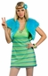 Adult Sexy Lime 60's Girl Costume