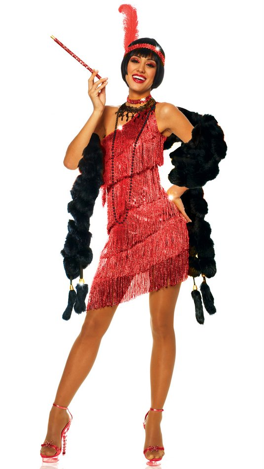 092d0480c8b Adult Sexy Red Flapper Costume - CandyAppleCostumes