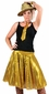 Adult Solid Gold Sequin Disco Skirt