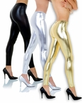 Adult Solid Metallic Leggings - More Colors