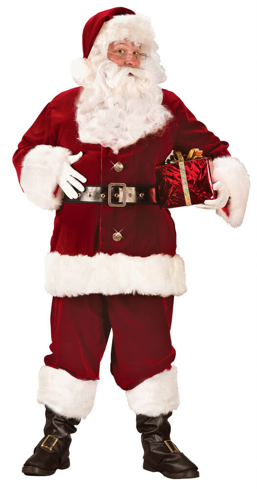 Adult Super Deluxe Santa Claus Suit Candy Apple Costumes