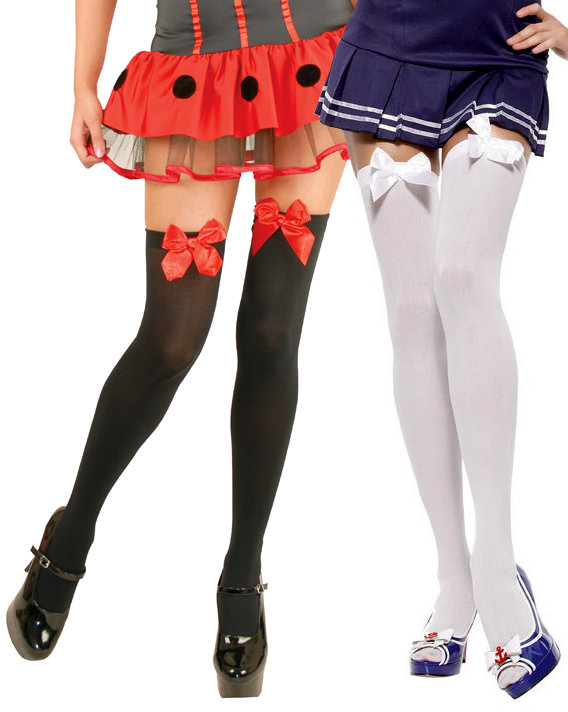 4426dcc11ca25d Adult Thigh High w/ Satin Bow - More Colors - Candy Apple Costumes ...