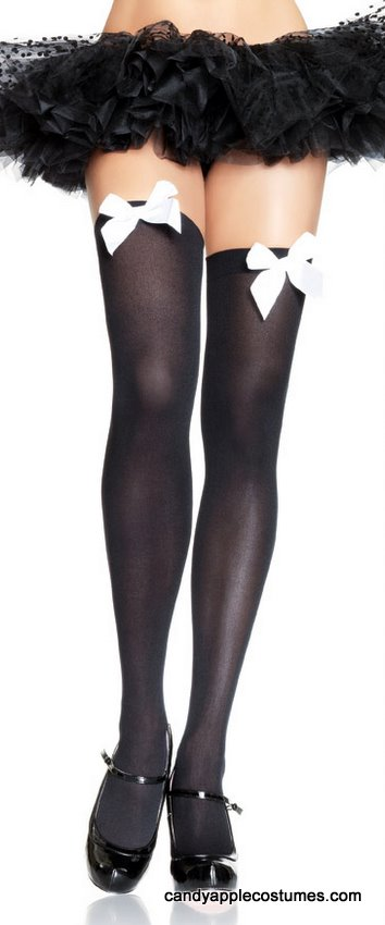 61120d595 Adult Thigh High w  Satin Bow - More Colors - Candy Apple Costumes ...