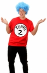 Adult Thing 2 Short Sleeve T-Shirt and Wig Costume