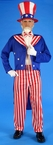Adult Uncle Sam Costume, Size M/L