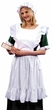 Adult White Cotton Pinafore
