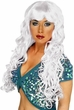 Adult White Curly Siren Wig