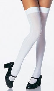 Adult White Thigh Highs