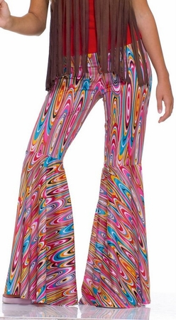 Adult Wild Swirl Bell Bottom Pants