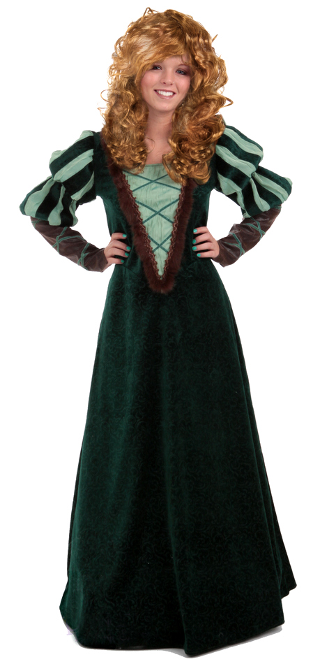 06da3736 Deluxe Women's Medieval Forest Princess Costume