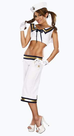 Sexy Sailor Costume  sc 1 st  Candy Apple Costumes & Adult Wow Matey! Sexy Sailor Costume - Candy Apple Costumes - See ...