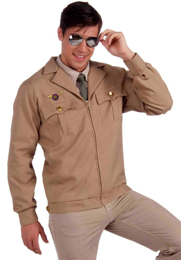 Adult WWII Fighter Pilot Costume Jacket  sc 1 st  Candy Apple Costumes & Adult WWII Fighter Jet Pilot Costume Jacket - Candy Apple Costumes ...