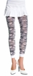Adult Zebra Print Opaque Footless Tights