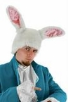 Alice in Wonderland Deluxe White Rabbit Head Hat