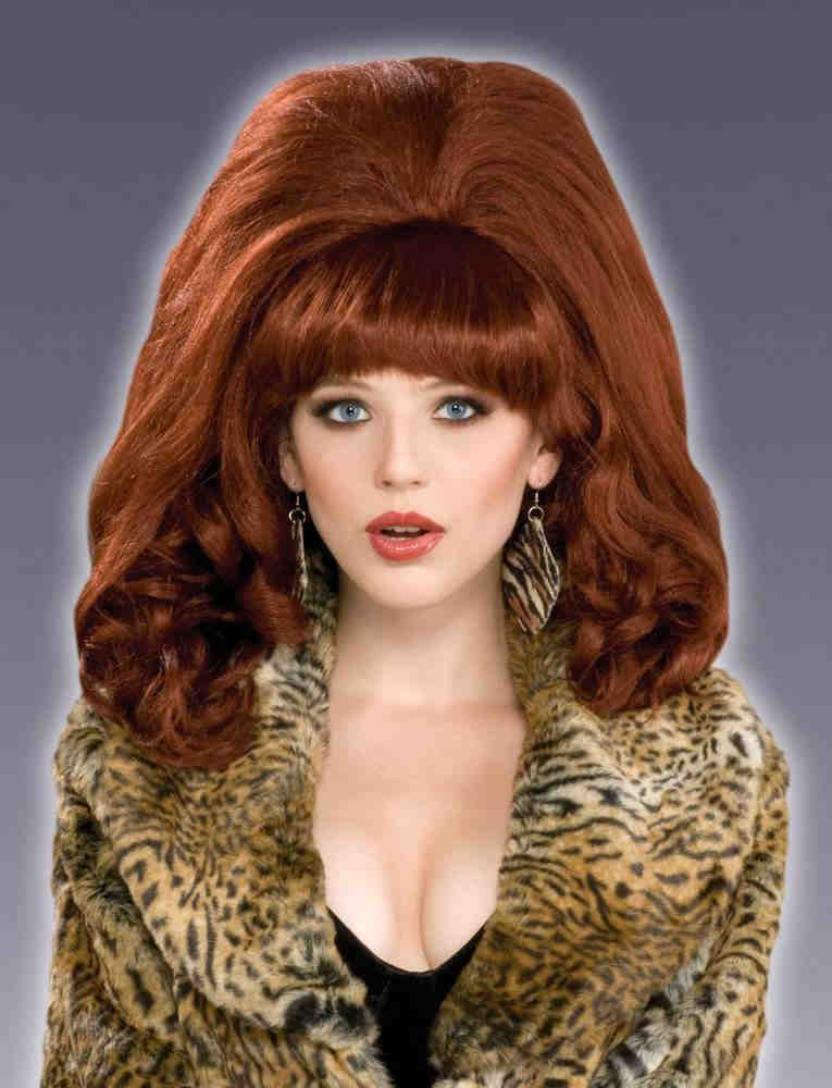 Red Bouffant Wig 44