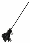 Black Feather Witch's Broom
