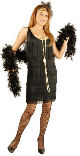 Plus-Size Adult Black Flapper Costume