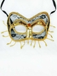 Black/Gold Lace Venetian Mask