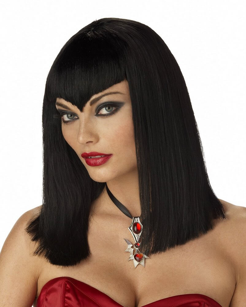 Black Sexy Vampire Wig Candy Apple Costumes Plus Size