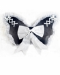 Black/White Mini Wings With Bow